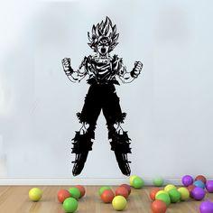 Games anime dragon ball z goku art decor game vinyl wall decal for kids rooms boys Mural Wall Art, Kids Wall Decals, Kids Stickers, Vinyl Wall Decals, Bedroom Murals, Dragon Ball Z, Art Decor, Anime Art, Illustration Art