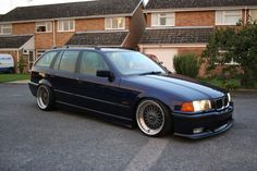 BMW e36 touring on square set of OEM BMW Styling 5 (BBS RC) wheels (9x17 ET22 all round, 205/40 + 20mm spacers rear, 195/40 front)