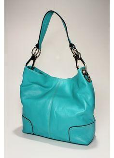 Aqua Bucket Bag Purse