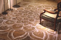 Moon to Moon: DIY Home: Painted and Stencilled Flooring...