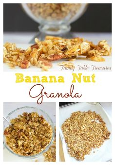on this healthy homemade Banana Nut Granola! This homemade granola ...