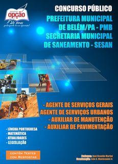 Apostila Concurso Público 2012, SESAN Belém/PA, para Diversos Cargos confira no Portal Casa e Família