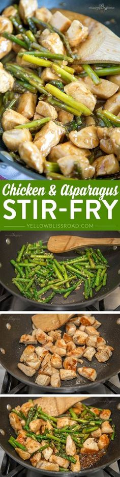 Chicken & Asparagus Stir-Fry-I added ginger to the sauce and it was great