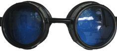 Round Lens Screw Cap Goggles (Blue)