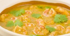 Curry shrimp and Thai coconut milk with Actifry Prawn Coconut Curry, Thai Coconut Milk, Curry Shrimp, Prawn Recipes, Curry Recipes, Seafood Recipes, Indian Food Recipes, Ethnic Recipes, Prawn Pulao Recipe