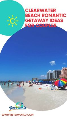 Are you planning a trip to Florida? Be sure to include a visit to Clearwater Beach. This destination is perfect for a romantic getaway on Florida's Gulf Coast. Romance in Florida? Absolutely! //beach day tips//traveling//trip//adventures travel//where to travel//travel ideas//travel places//travel to//beach ideas// #travel #romantic Florida Vacation, Florida Travel, Florida Beaches, Caladesi Island State Park, Florida Festivals, Clearwater Beach Resorts, Romantic Getaways, Adventure Travel, Places To Travel