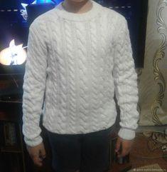 Свитер `Белая метель` с косами Men Sweater, Sweaters, Fashion, Moda, La Mode, Sweater, Men's Knits, Fasion