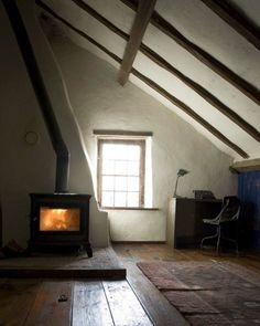 I'd love to see the rest of this house, though the attic is cozy.