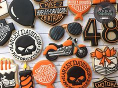 Harley Davidson cookies