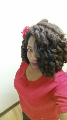 1st attempt with marley crotchet hair and roller set. .... day 4 still looking pretty good .