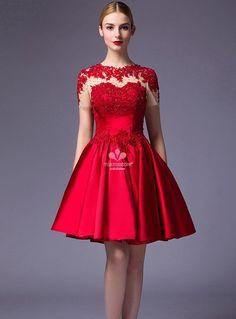 abito-da-cerimonia-corto-elegante-con-trasparenze-e-applicazioni-di-pizzo-sul-corpetto.jpg (665×900)