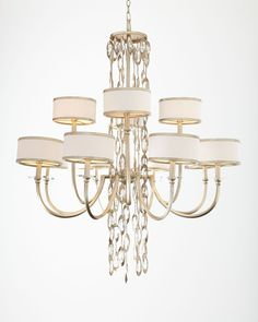 Counterpoint 12-Light Chandelier, Gold