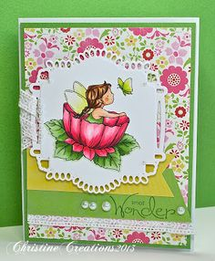 ChristineCreations: Fairy Small Wonder & A Giveaway! Small Wonder, Copics, Copic Markers, Flourish, Colouring, Bookmarks, Cardmaking, Giveaway, Fairy