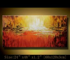 Original Abstract Painting, Modern Textured Painting,  Palette Knife, Home Decor, Painting Oil on Canvas  by Chen 0247. $218.00, via Etsy.