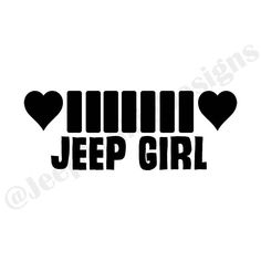 Jeep Girl - Heart Grill Approximately Inches Oracal 631 Vinyl Lasts up to 3 years Durable through all weather, including mud Jeep Jku, Cj Jeep, Jeep Rubicon, Jeep Wrangler Unlimited, Wrangler Jeep, Jeep Wrangler Stickers, Jeep Stickers, Jeep Decals, Jeep Carros