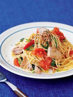 【ELLE a table】自家製ツナとフレッシュトマト、ルコラのパスタレシピ|エル・オンライン