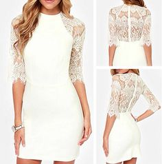Civil Wedding Dresses, Grad Dresses, Dream Wedding Dresses, Club Dresses, Formal Dresses, Lace Dress, White Dress, Courthouse Wedding, White Lace