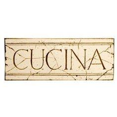 Cucina Sign Italian Kitchen Decor,