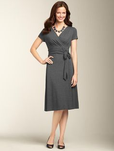 Talbots - Ruched-Wrap Dress | | MISSES