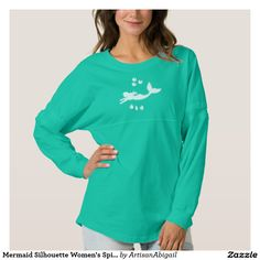 Sold! Thank you to the customers and enjoy! Mermaid Silhouette Women's Spirit Jersey Shirt; ArtisanAbigail at Zazzle