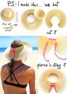 DIY sun hat...for Evelyn