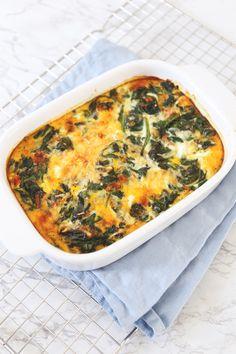 Frittata met spinazie - Lekker en Simpel