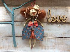 Doll by N.Krava #Artdoll #Handmade #art #idea #gift #collectible #figurine #miniature #homedecor #kunst #pouppe #birthdaygift #tabledecor #giftidea #walldecor #hangingdecor #flowerdecor #giftforwomen #etsy