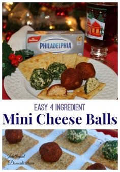 Easy recipe for 4 ingredient Mini Cheese Balls. No more fighting over the cheese ball or broken cracker pieces stuck in the big cheese ball. Make these easy individual Cheese Balls for your party guests. Appetizers For Party, Appetizer Recipes, Party Snacks, Fall Recipes, Holiday Recipes, Good Food, Yummy Food, Delicious Recipes, One Dish Dinners