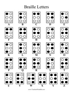 braille alphabet printable for kids with a print button