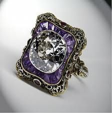 I absolutely love this!  This ring would be a great anniversary gift since purple was our wedding color. Or any vintage amethyst ring will do!