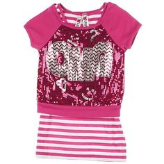 Beautees 7-16 OMG Sequin Duet Top FESTIVE PINK Sm 7/8From #Beautees Price: $16.80 Availability: Usually ships in 1-2 business daysShips From #and sold by Bealls Florida
