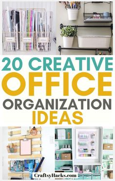 These organizing office ideas are great for organizing desk. These organization tips will help you become more productive. #organization #organizing #organize