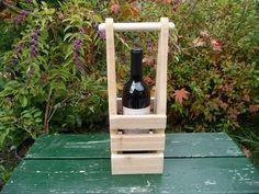Cedar Wine Bottle Tote - Wooden Bottle Holder - Columbia Style by TacomaCraftsmen on Etsy https://www.etsy.com/listing/252703158/cedar-wine-bottle-tote-wooden-bottle