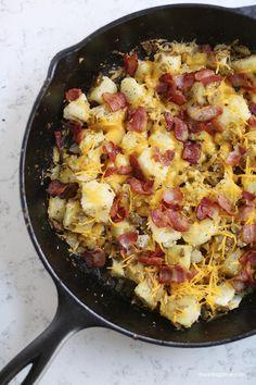 Skillet breakfast potatoes recipe