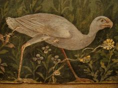 Ancient Roman fresco from the House of the Golden Bracelet, Pompeii, Italy.