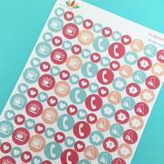 Daily Icon Planner Stickers