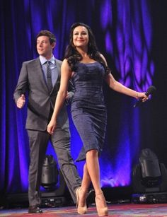 #GLEE's Naya Rivera + Cory Monteith split hosting duties at #GLAADAwards [PHOTO]