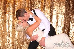Benfield Photography Blog: Benny Photo Booth Images of Ashley and Matt's Wedding Reception - love the gold sequin background!