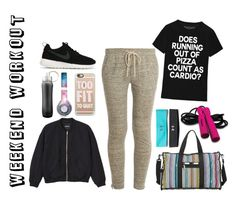 """Weekend Workout"" by teennetwork ❤ liked on Polyvore featuring NIKE, Vince, Monki, LeSportsac, Casetify, Beats by Dr. Dre and Under Armour"