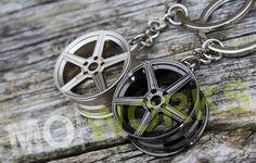 BBS RS Chrome Keychain Keyring JDM Stance Rim EDM Accessory Auto Gift Car