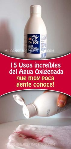 15 Usos increíbles del Agua Oxigenada que muy poca gente conoce House Cleaning Tips, Cleaning Hacks, Clean House, Beauty Skin, Home Remedies, Skin Care, Personal Care, Cleaning, Cleaning Tips