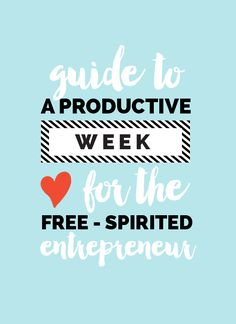 guide to a productive week for the creative entrepreneur | love plus color #ClippingPath