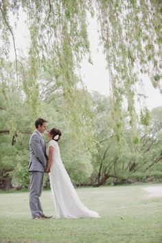 If we were to renew our vows it would be under a willow, I love  willow trees...