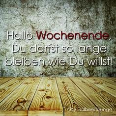 #WOCHENENDE!