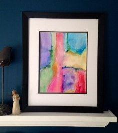 Original Abstract Watercolor Painting Unframed by worDSMITHstudios, $12.00