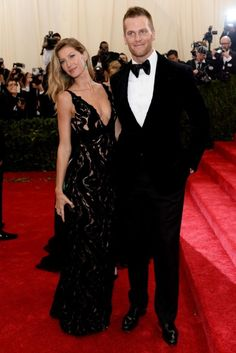 TOM BRADY & GISELE  at METGALA TOM FORD 2014