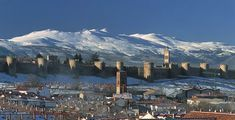 Avila is the highest provincial city; this city enjoys a pleasant atmosphere and represents some relief from the intense heat of the south of Spain. Monuments, Places To Travel, Places To Visit, D Avila, Walled City, World Images, Spain And Portugal, Spain Travel, Places Around The World