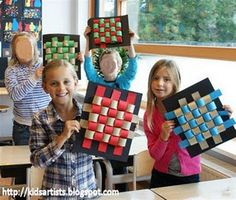 Wavy Weaving (3-Dimensional)- need to come up with a few more of these kind of activities as my kids need them