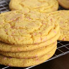 Cake Batter Cookies: You will never be able to eat just one cake mix cookie. They're guaranteed to be a favorite any time of year!