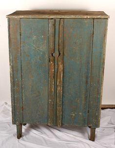 Primitive NC Robin's-Egg Blue Cabinet.